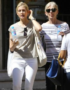 Touched down: Kelly Rutherford arrived in Monaco on Wednesday to attend a hearing Thursday. My Other Bag, Kelly Rutherford, Ex Husbands, Second Child, Love Her Style, Gossip Girl, Denim Fashion, Monaco, Celebrity News