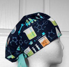 Molecular Tie Back Scrub Hat