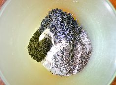 Mix together the flour, salt, pepper, thyme, and lavender...