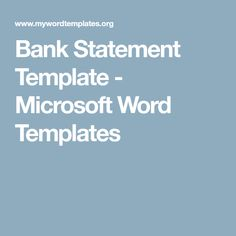 Account Statement Template  Cij Consumables