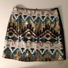 Lulumari sequin skirt Amazing black skirt with sequin!!! You can also wear it with black tights! Lulumari Skirts