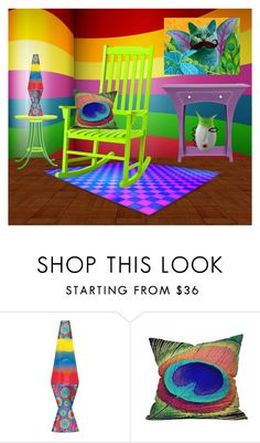 """""""Rainbow Room..."""" by marvy1 ❤ liked on Polyvore featuring interior, interiors, interior design, home, home decor, interior decorating, Nexus, Lava and DENY Designs"""