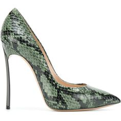 552e2a12c027 Casadei Blade snakeskin pumps ( 994) ❤ liked on Polyvore featuring shoes