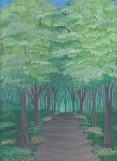 A Walk In The Woods acrylic painting