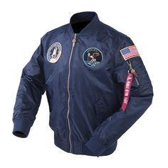 SPECIAL EDITION Apollo 100th SPACE SHUTTLE MISSION Pilot NASA Flight Jacket  US Air Force MA-1 Bomber Jacket For Men (Thin) - 7 Colors fb8ab635fb