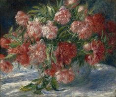 The Athenaeum - Peonies (Pierre Auguste Renoir - )