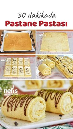 Lokum Gibi Muzlu Mini Rulo Pasta Tarifi – Nefis Yemek Tarifleri Video narration How to make a Mini Roll Cake Recipe Like Turkish Delight with Banana? Turkish Delight, Sheet Cake Recipes, Cookie Recipes, Mini Rolls, Turkish Sweets, Tasty, Yummy Food, Best Banana Bread, Love Eat