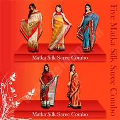 Five Matka Silk Saree Combo - Your Style tells people that who you are & what you want to say.Be stylish & be bold with  Five Matka Silk Saree Combo. Order Now @ 09212600900 , 09250018100