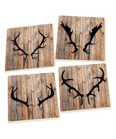 Look What I Found On Zulily Antlers Square Coaster Set Of Four By