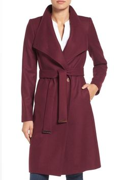 Put a wrap on fall coat shopping, because this is the only one you'll ever need. It's elegant enough to layer over cocktail dresses, but perfectly casual for jeans and sweaters too. The collar folds up like a funnel-neck for extra warmth.