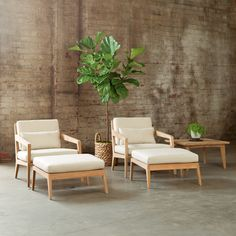 Drift Collection - lounge chairs with ottomans