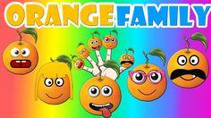Finger Family Orange Family Nursery Rhyme | Orange Finger Family Songs