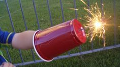 Use a Plastic Cup as a Sparkler Shield for Children
