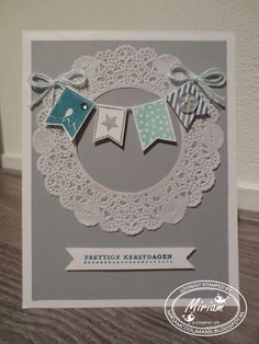 "Stampin' Up! ""Banner Blast"" stamp set + Banner Punch + Doilies"