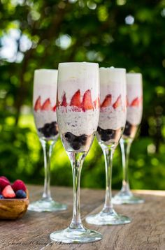 Simple No Bake , Super Quick, yet elegant ! Layered White chocolate mousse is perfect for your 4th of July celebrations!