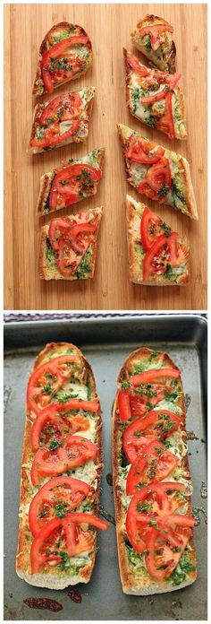 Open Faced Grilled Cheese with Tomato | Nosh-up