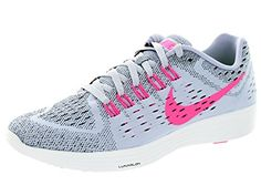Nike Womens Lunartempo Titanium PowBlackWhite Running Shoe 75 Women US -- You can find out more details at the link of the image.