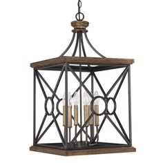 This Landon collection 4-light foyer pendant features a painted surry finish that will complement many traditional decors. Both versatile and elegant, this lighting fixture can be mounted as a flush mount or hanging fixture.