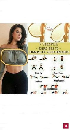 workout 7 Simple Exercises To Firm & Lift Your Breasts Fitness Workouts, Gym Workout Tips, Hip Workout, Workout Challenge, Easy Workouts, Yoga Fitness, Fitness Tips, Pink Fitness, Fitness Icon