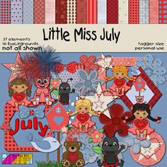 Little Miss July & Little Mister July kits & FREEBIES are out at http://ditzbitzkidzkitz.weebly.com/little-miss-and-little-mister.html