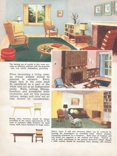 Mid Century Decor Living Room 1950s House Interior Design Furniture  Furnishings Vintage House Interior Design Part 58