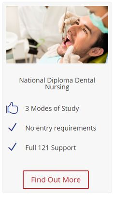 National Diploma Dental Nursing by Harriet Ellis. We are the number one private college in the UK  offering this course with 20 prime locations in London, Manchester, Birmingham, Glasgow and more to study. We also help you find a work placement so you can earn money whilst studying our course. For more info click on the image.