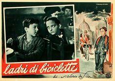 The Bicycle Thief (aka Bicycle Thieves) , Italian lobby card (fotobusta). 1948