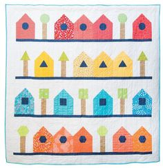 Shape Sorter Quilt by Judith Hollies in Popular Patchwork April 2016