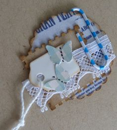 embellishment - idea for using all those small white die cut tags