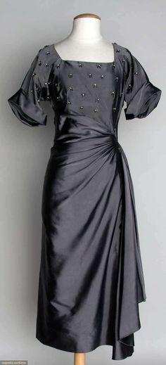 Designer Cocktail Dress, 1940s, Augusta Auctions, November 13, 2013  NYC Vintage Fashion: 1920s  1949  | Big Fashion Show designer cocktail dresses