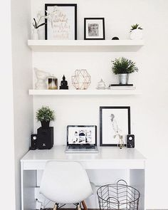 Starting our feed with this white workspace regram from Hayley @taylor.dbeauty in Australia ☀️ We love the clean, monochrome + copper aesthetic ✨ So bright + light and proves that big things can happen in small spaces Hayley is a beauty vlogger sharing fresh + fun makeup how-to videos with a hidden talent for interior styling Thanks Hayley for sharing your workspace + for being first in our #workspacegoals feed