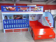 Fabulosa litera estilo Cars: Habitaciones infantiles de estilo  por camas y literas infantiles kids world