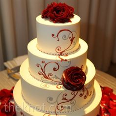 Seven Facts You Never Knew About Red Wedding Cake Design - red wedding cake design Black And White Wedding Cake, Red And White Weddings, White Wedding Cakes, Cool Wedding Cakes, Wedding Cake Designs, Wedding Ideas, Red And White Wedding Decorations, Ruby Wedding, Yellow Wedding