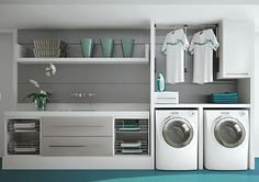 Laundry Room Inspiration: Neat and organized Laundry Room Inspiration: Neat and . Laundry Room Inspiration: Neat and organized Laundry Room Inspiration: Neat and organized Laundry Decor, Laundry Room Organization, Laundry Room Design, Laundry In Bathroom, Garage Laundry, Interior Design Living Room, Living Room Designs, Modern Laundry Rooms, Laundry Room Inspiration
