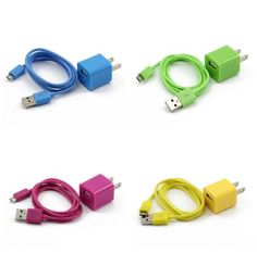 4X Colorful 2in1 US Plug Wall Charger Adapter + Micro USB Data Sync Charger Cable Cord for Samsung Galaxy S2 S3 i9100 i9300 S5830(Hot Pink, Green, Yellow, Sky Blue) ChineOn http://www.amazon.com/dp/B00BLVHEH4/ref=cm_sw_r_pi_dp_TtRVtb06N6TSDYAW