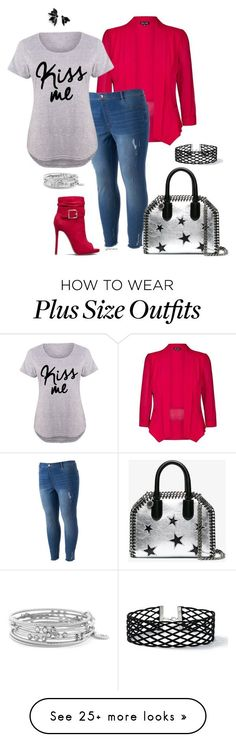 """""""Kiss this- plus size"""" by gchamama on Polyvore featuring City Chic, LC Lauren Conrad, STELLA McCARTNEY, Joomi Lim, Jessica Simpson, Miss Selfridge and plus size clothing #plussizefashion"""