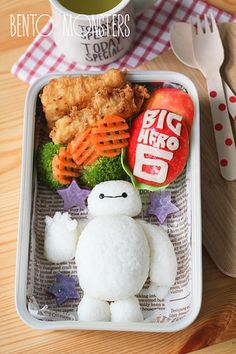 Big Hero 6 Baymax Bento | Bento, Monsters