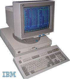 monochrome-monitor: IBM PS/2 55SX (1989)