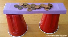 Build a Bridge: Testing Bridge Design {Science Activity}  ---- different shapes of paper and how many pennies can it hold?