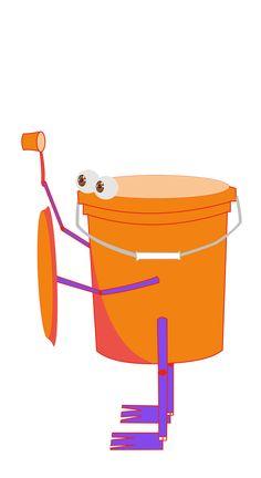 a bucket monster
