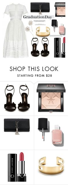 """""""Graduation Day Dress"""" by mycherryblossom ❤ liked on Polyvore featuring Sophia Webster, Givenchy, Yves Saint Laurent, Chanel, Marc Jacobs, Tiffany & Co., Jennifer Behr, fab, polyvoreeditorial and graduationdaydress"""