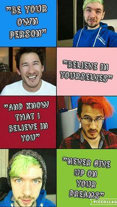 markiplier and jacksepticeye Jacksepticeye Quotes, Markiplier Memes, Youtube Quotes, Youtube Memes, Pewdiepie, Cryaotic, Jack And Mark, Darkiplier, Best Youtubers