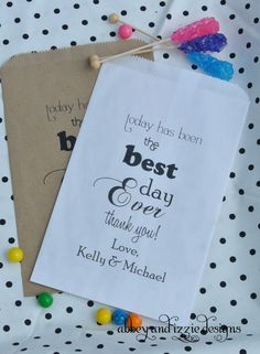 Wedding Favor Bags | Wedding Candy Bags | Candy Buffet | Popcorn Bags | Cookie Bags |by abbey and izzie designs