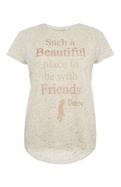 Primark - Grey Harry Potter Dobby Dip Hem T-Shirt