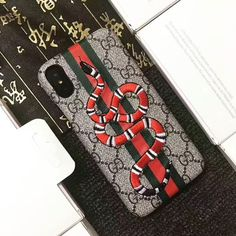 b8ec0802e5b1 Gucci Embroidery Case For iphone Case Snake