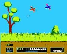 The 80's equivalent of a Wii game, EVERYBODY in the family played Duck Hunt!
