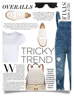 """""""Tricky Trend: Overalls"""" by natalie1523 ❤ liked on Polyvore featuring Guild Prime, Church's, RE/DONE, Michael Kors, TrickyTrend and overalls"""