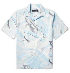 Rag & bone - Kingston Camp-Collar Printed Cotton Shirt