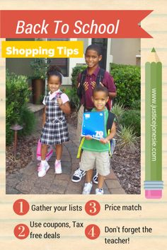 Back To School Shopping Tips for Tax Free Weekend #TaxFree #Florida #BackToSchool