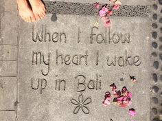 The greatest journey I've done - when I went to Bali and changed my life.  #Bali #Paradise #Perfect #flowers #Ubud #Yoga
